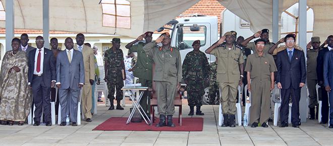 President Museveni with Uganda Police